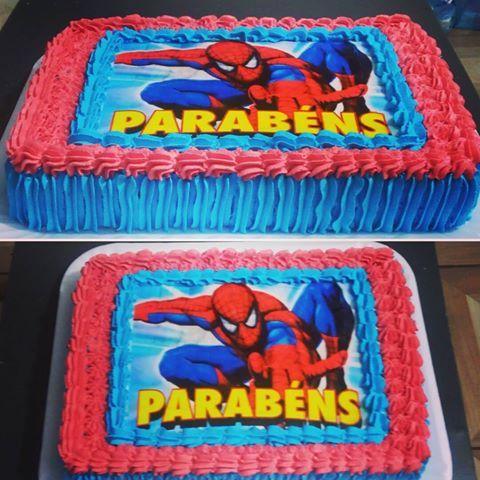 Bolo Homem Aranha Bolo Chantilly Homemaranha Spiderman Bolos