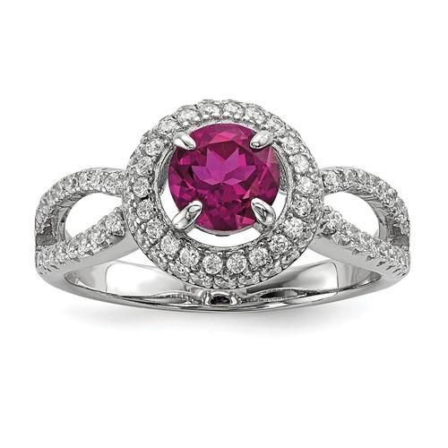 Top 10 Jewelry Gift Sterling Silver /& CZ Brilliant Embers Ring
