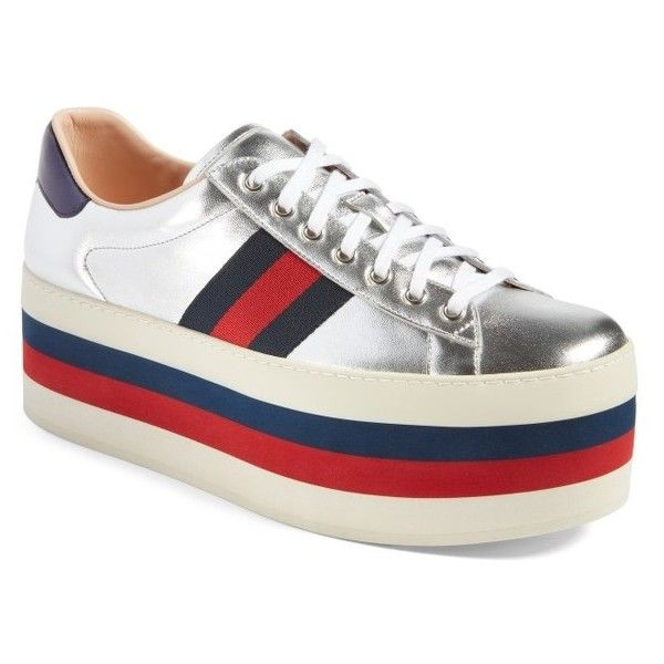 d8aea069b4e0 Men s Gucci New Ace Platform Sneaker ( 950) ❤ liked on Polyvore featuring  men s fashion