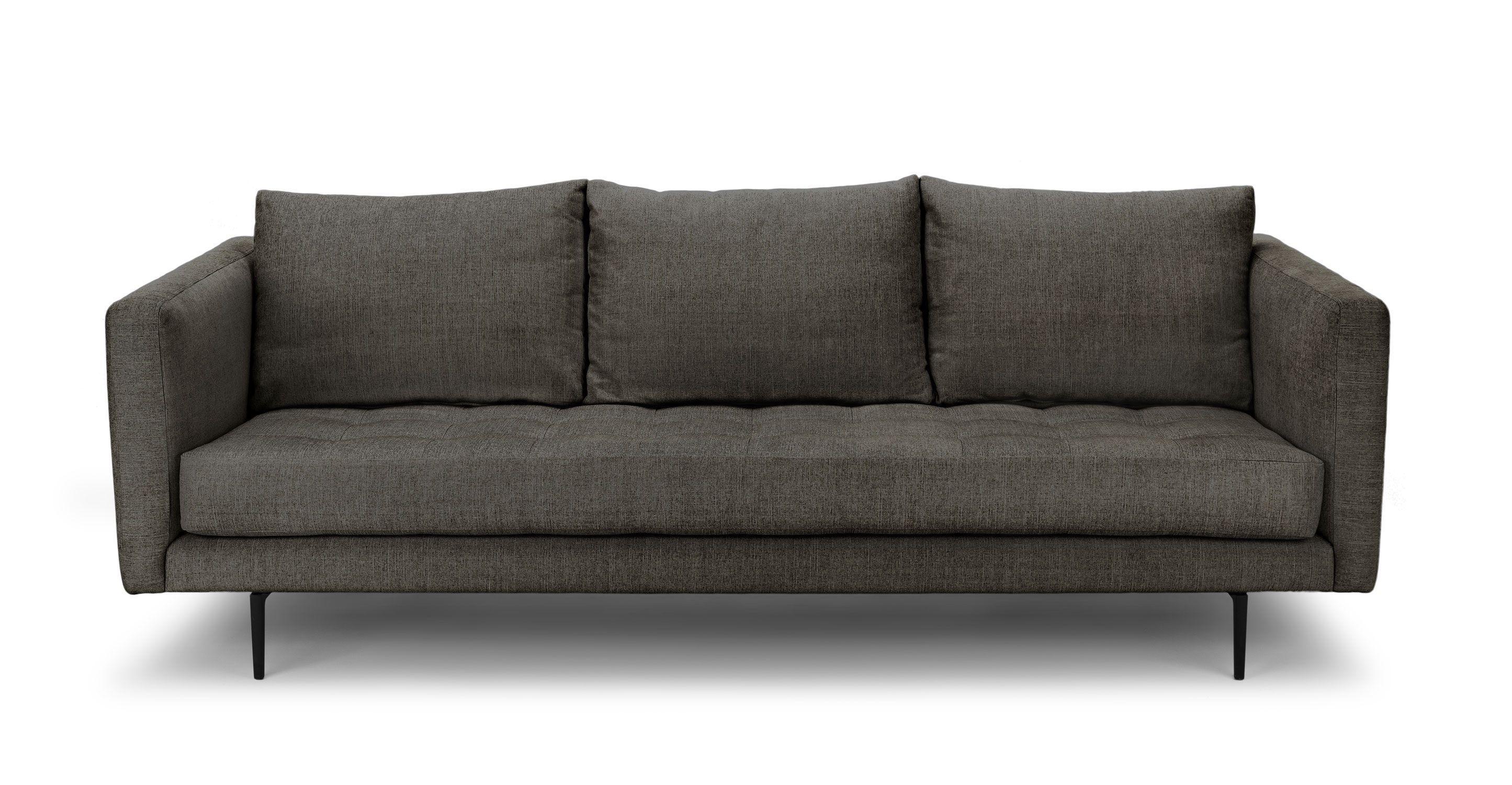 White Tufted Sofa 3 Seater Upholstered