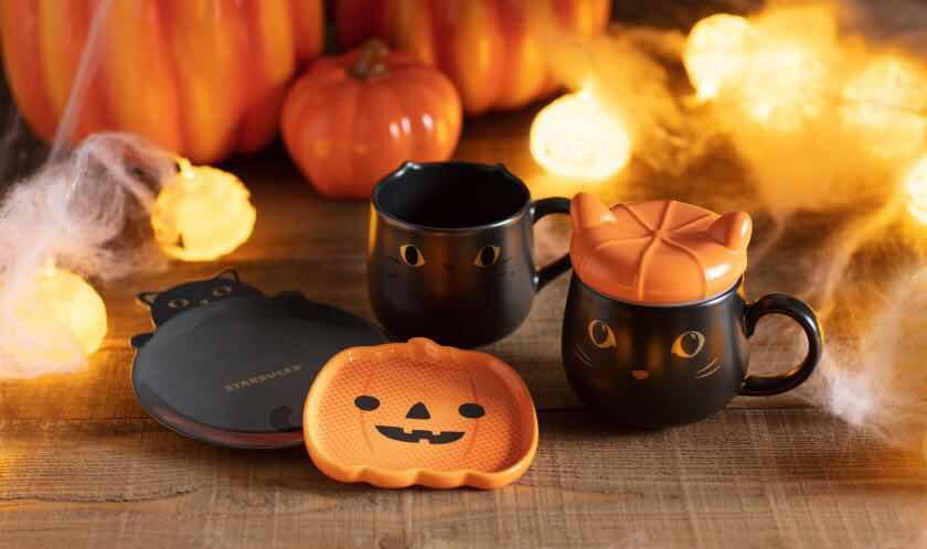 星巴克万圣节杯子2020礼物台湾日本香港黑猫捉迷藏附盖陶瓷马克杯 淘宝网 Tableware Glassware Mugs