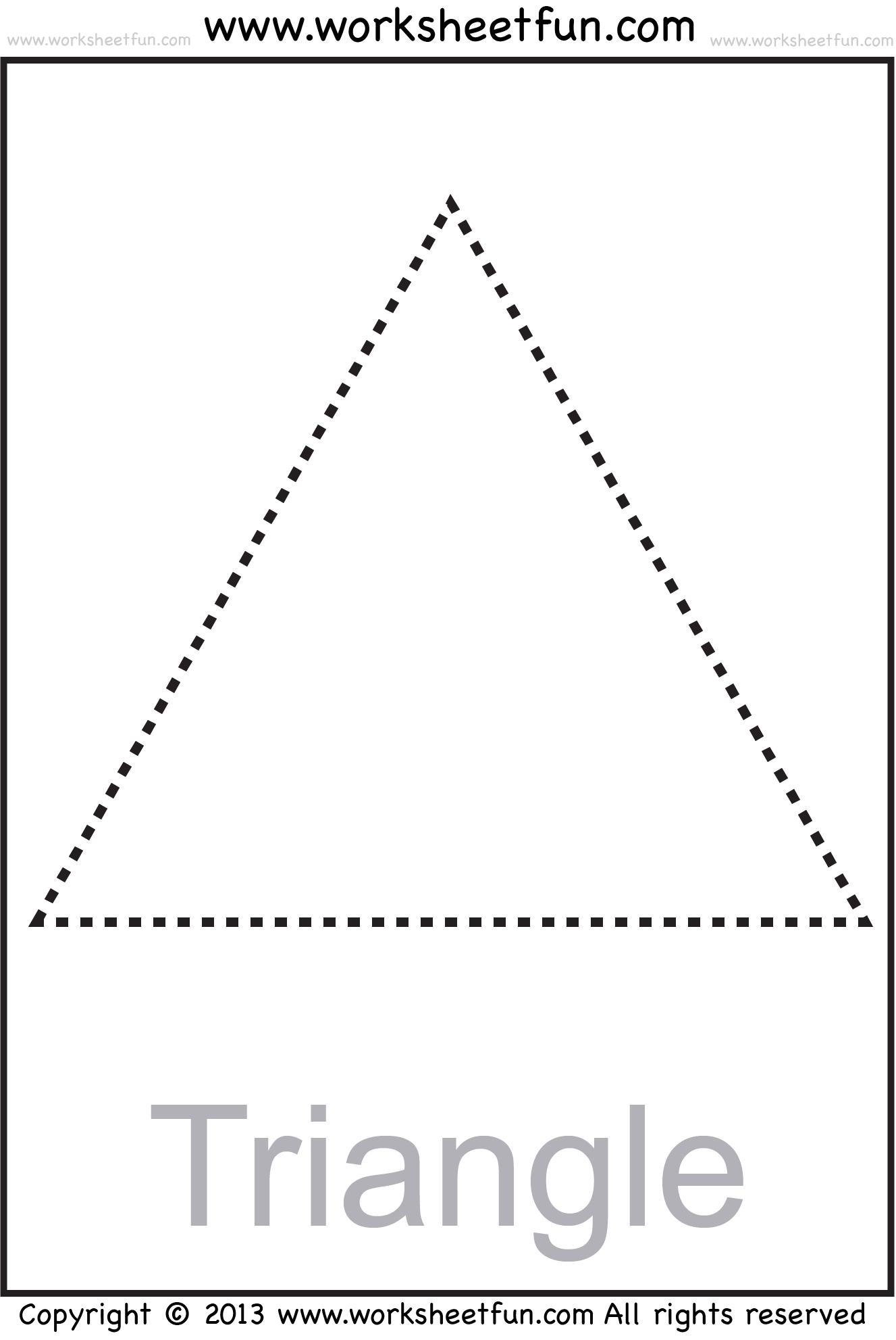Image Result For Triangle Worksheets For Preschool