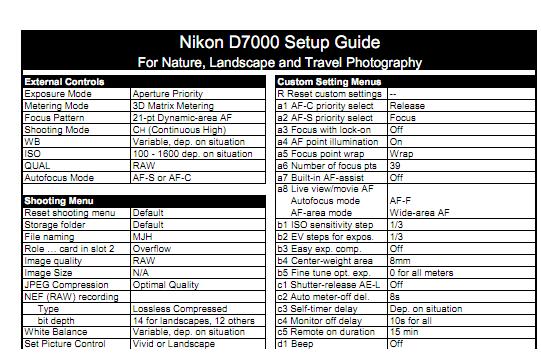 d7000 nikon cheat sheet - slubne-suknie info
