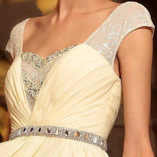 Dapene woman cap sleeve long wedding guest for Amazon wedding guest dress