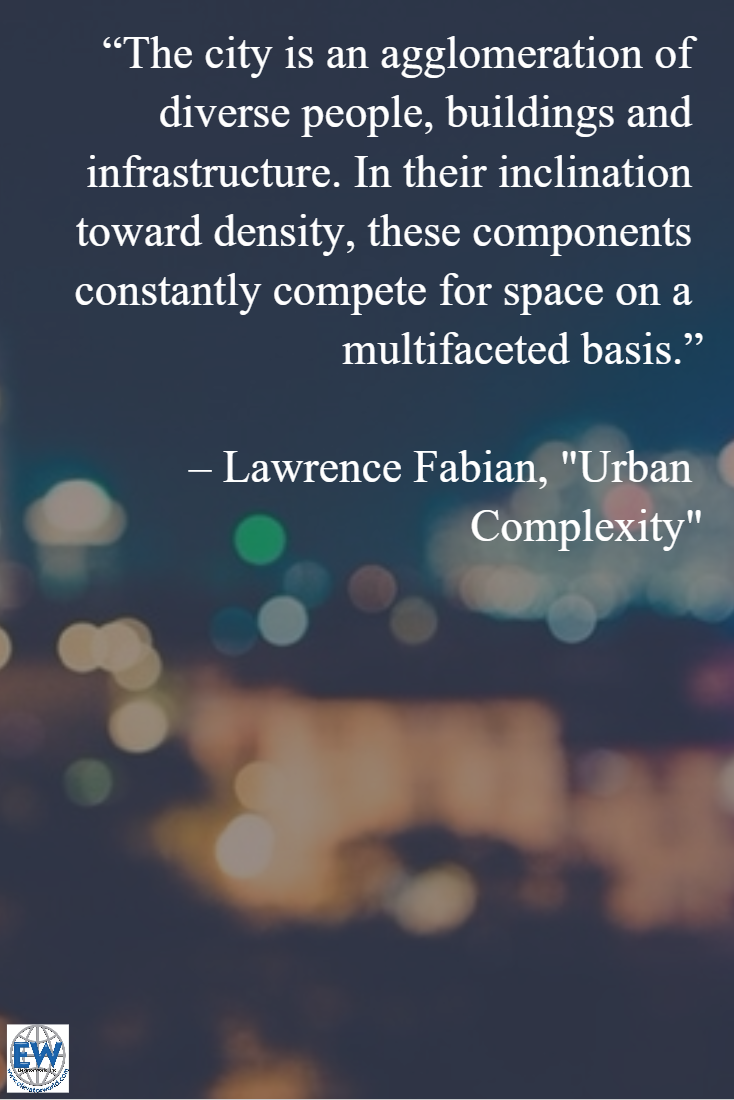 """In our March Web Exclusive, """"Urban Complexity,"""" Lawrence Fabian explores the competition between the individual and the public for space in vertical and horizontal transportation. #elevator #citylife #urbanism"""