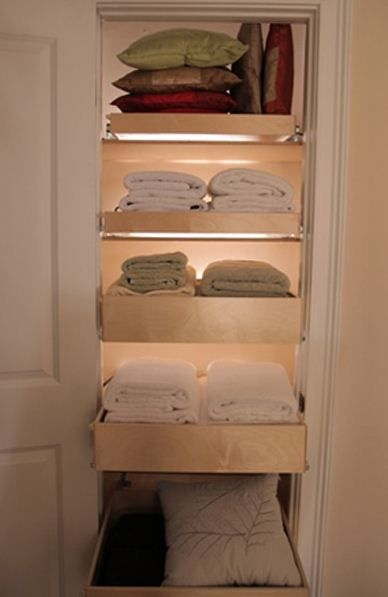 Great Idea For A Small Narrow Closet Use Pull Out