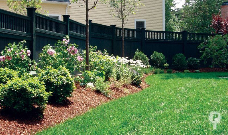 backyard idea for fence line landscaping along - Garden Ideas Along Fence Line