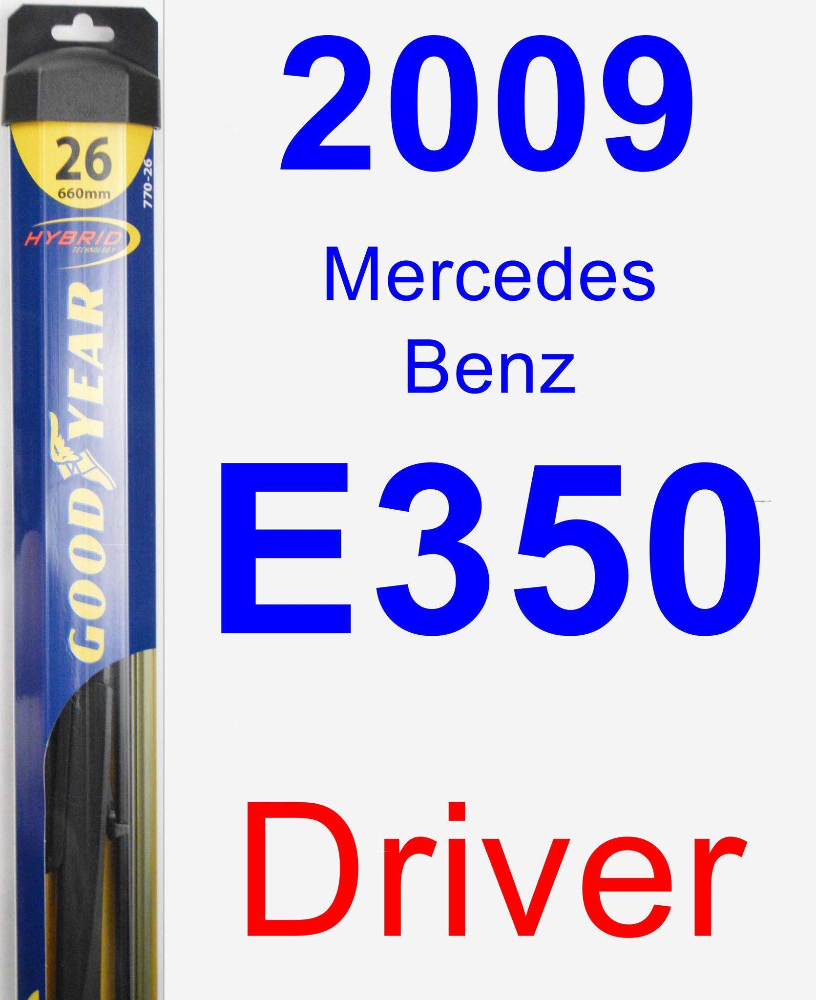 Driver Wiper Blade for 2009 MercedesBenz E350 Hybrid