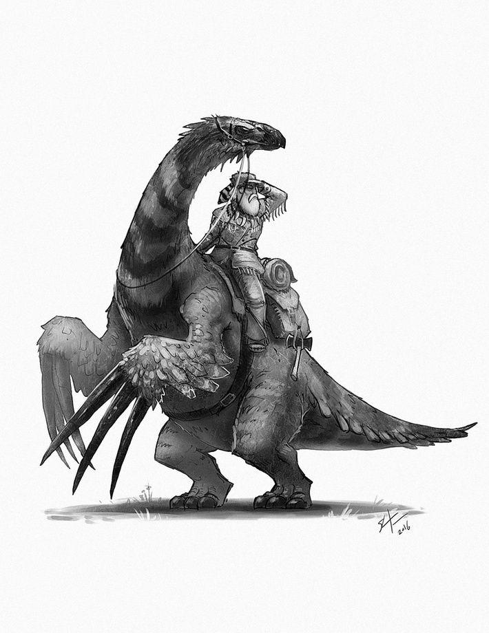 Therizinosaurus mountaineer , an art print by Shaun Keenan #dinosaurart