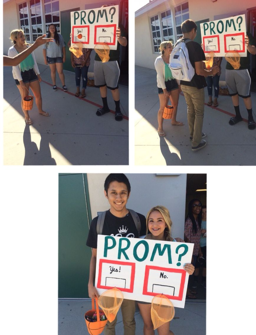 Cute Way To Ask A Basketball Player To Prom! I Just Used A Foam Board
