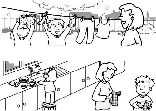 Helping others Sunday Schoo Coloring Page | Sunday School Lesson ...