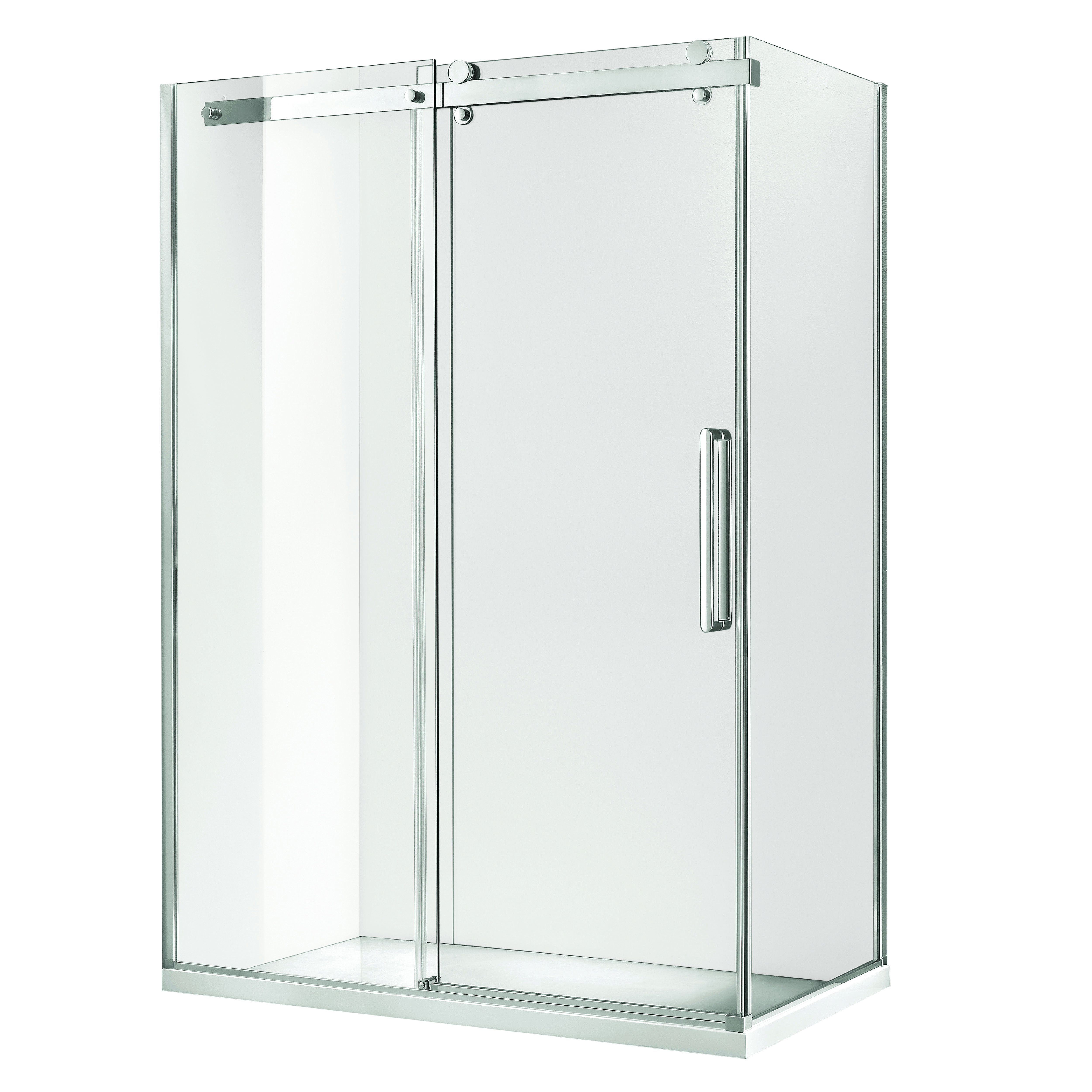 Bunnings Bathroom Vanity Shower Screen Frameless Euro 1200x900x1900mm Sliding Bunnings
