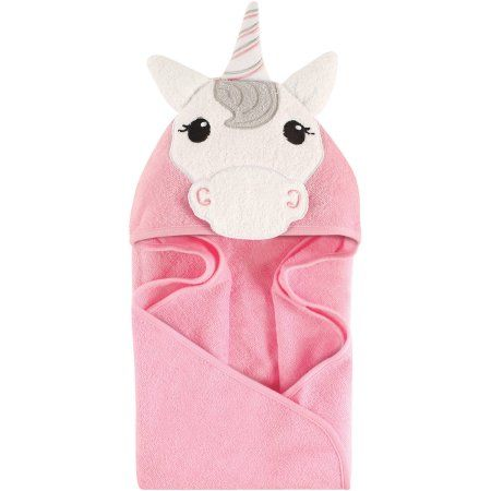 Hudson Baby Newborn Baby Girls Animal Hooded Towel Comes
