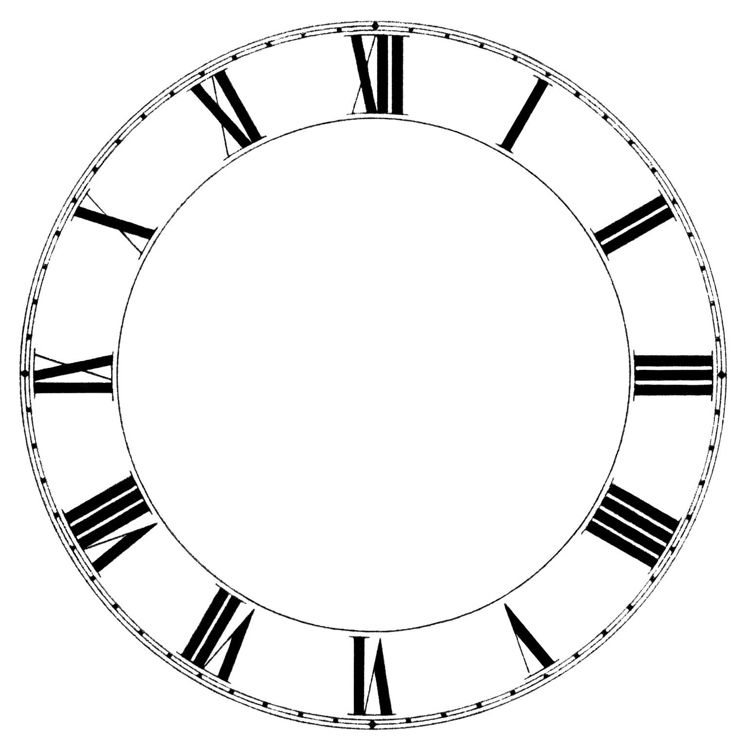 10++ Clock clipart black and white without hands info