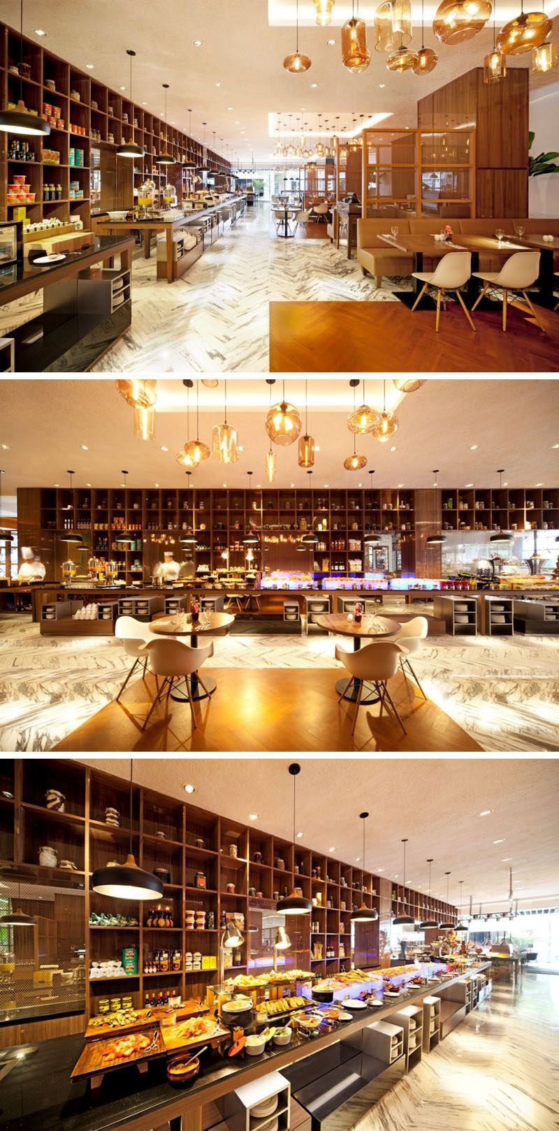 10 unique coffee shops in asia designphse dba designed the element cafe in singapore - Marble Cafe Decoration