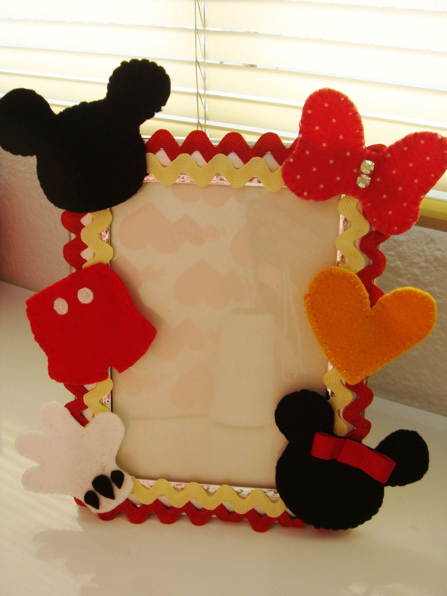 Porta retrato Mickey e Minnie (: