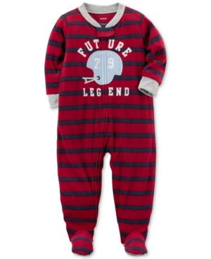c19d63688 Carter s 1-Pc. Striped Future Legend Footed Pajamas