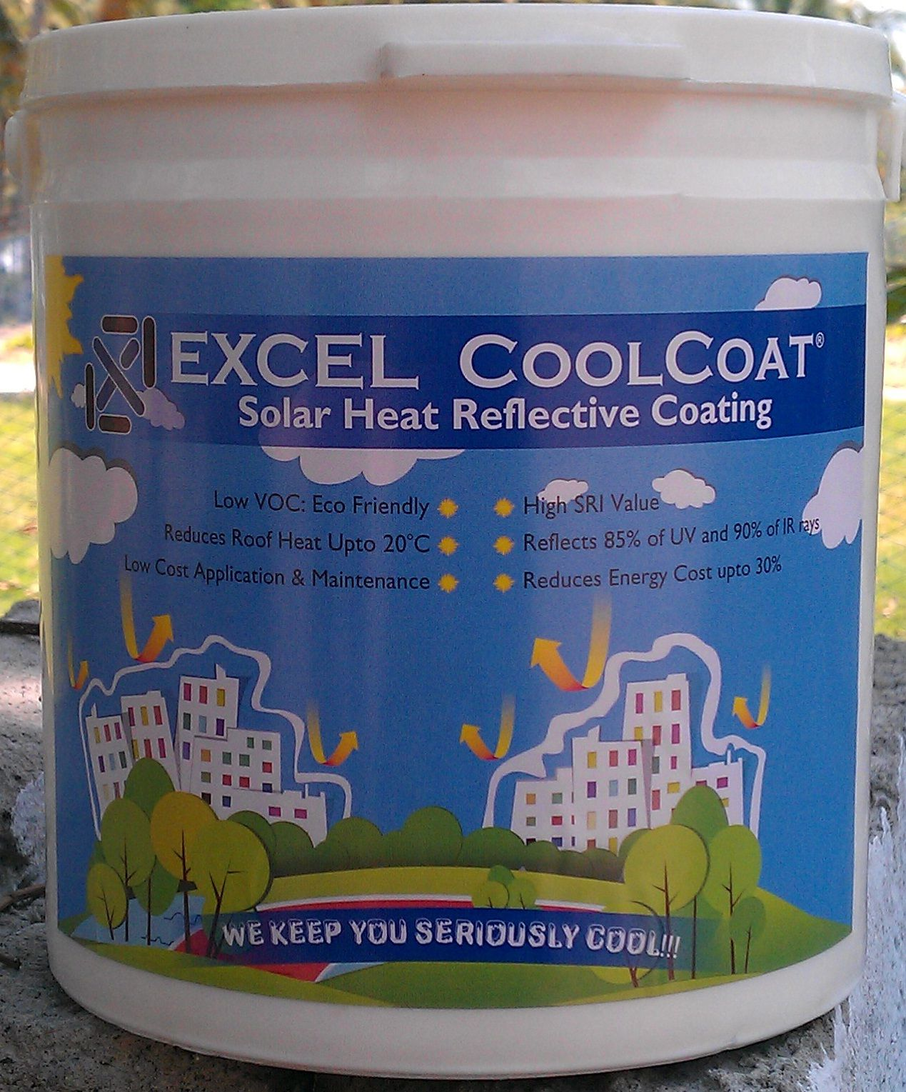 No More Hot Summers Excel Coolcoat Reflects Sun S Heat And Keeps Your House Industries Cool And Comfortable Even During Cool Roof Roof Paint Roof Coating