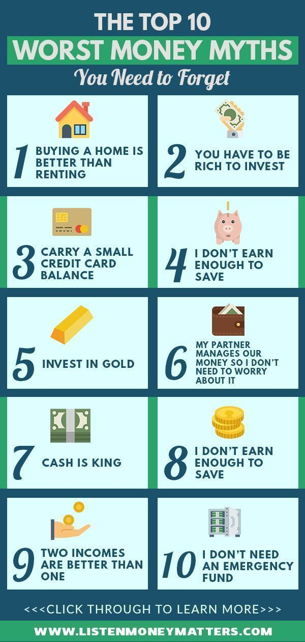Don't be misled by these popular personal finance myths! We debunk the top 10 money myths. Read on and be money wise now! | road to financial freedom, smart money management, personal finance for beginners | #financialeducation #smartmoneytips #financialplanning