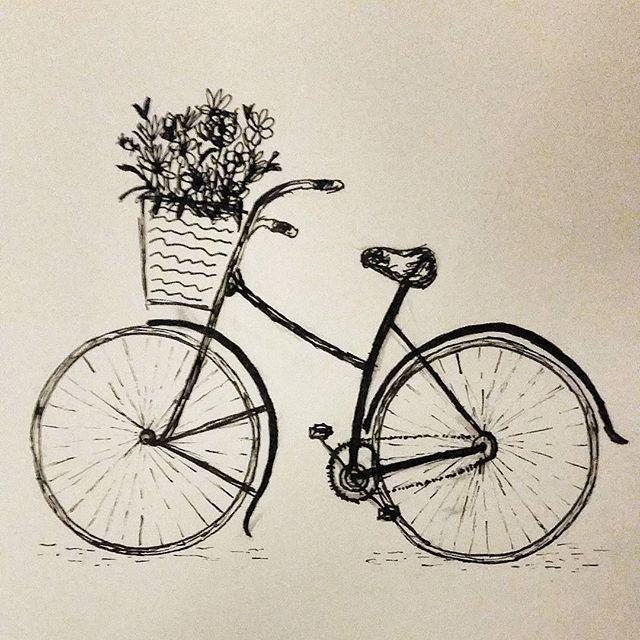 Fahrrad Zeichnung Einfach : bike ride vintage more skizzen kunst zeichnungen und ~ Watch28wear.com Haus und Dekorationen
