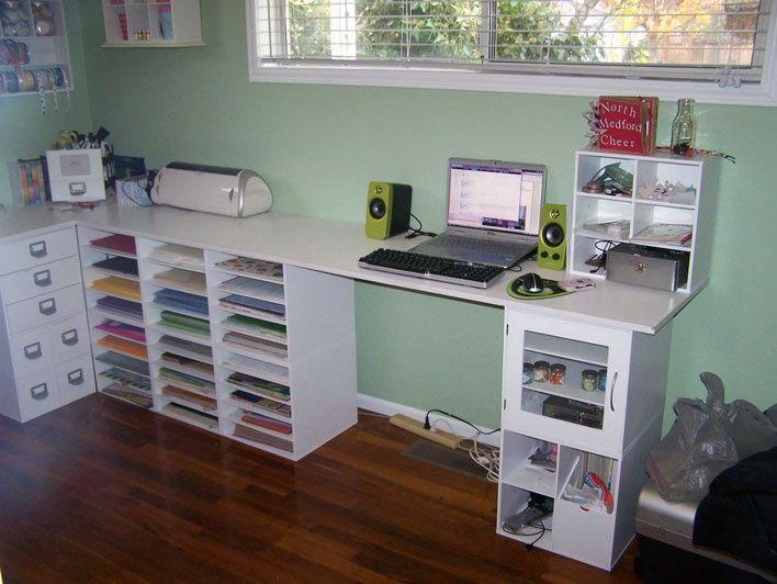 Desk Of Jetmax Cubes Craft Desk Craft Storage Solutions Craft Room Furniture