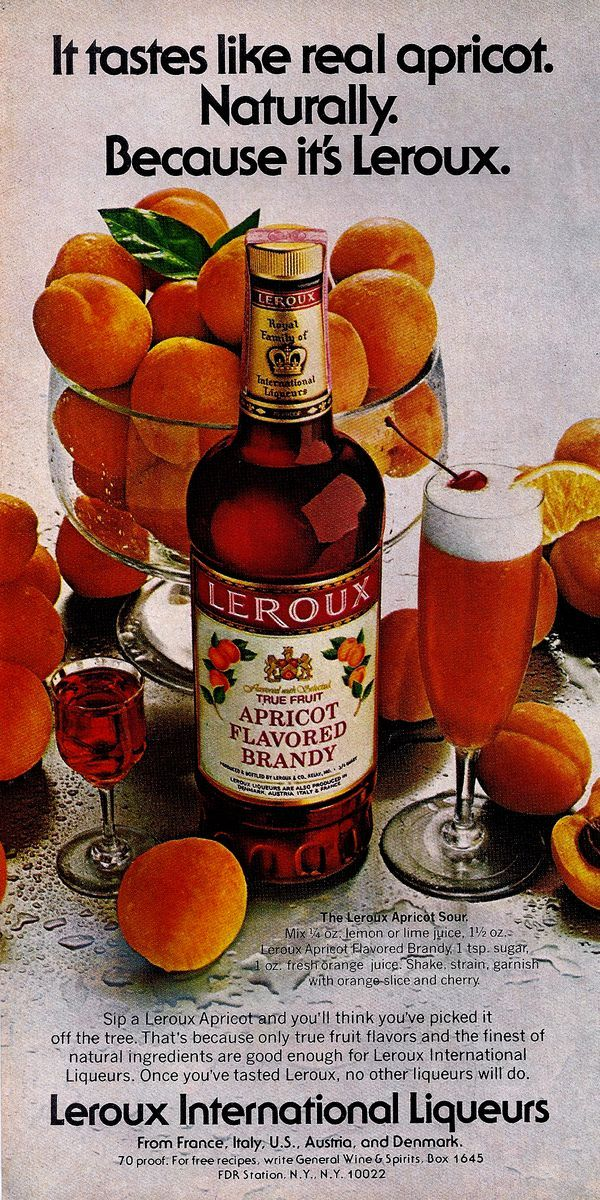 1979 recipe for the Leroux Apricot Sour in 2019 | Food