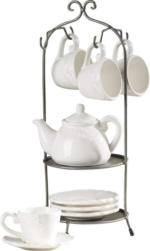 Lark Manor Alos Cup And Saucer Teapot Set With Stand Tea Pots