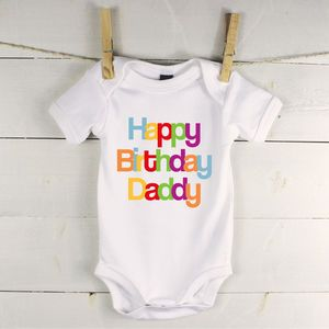 Happy birthday babygrow new gifts for babies kids baby not on the high street lovetree design im cuter than the easter bunny babygrow negle Choice Image