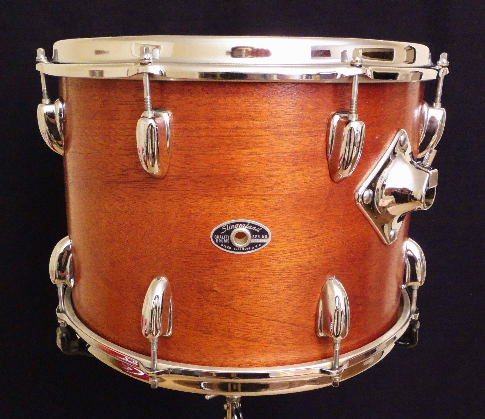 Vintage Niles Era Slingerland 14 Mahogany Maple Tom Drum For Set Nice Tom Drum Drums Vintage Drums