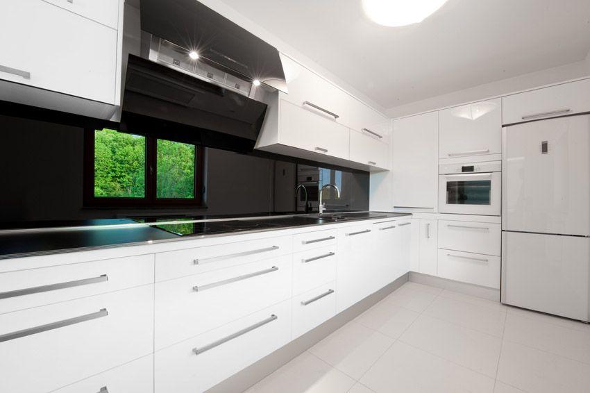 Weiße, Moderne Küche Schränke Dies Ist Die Neueste Informationen Auf Die  Küche .
