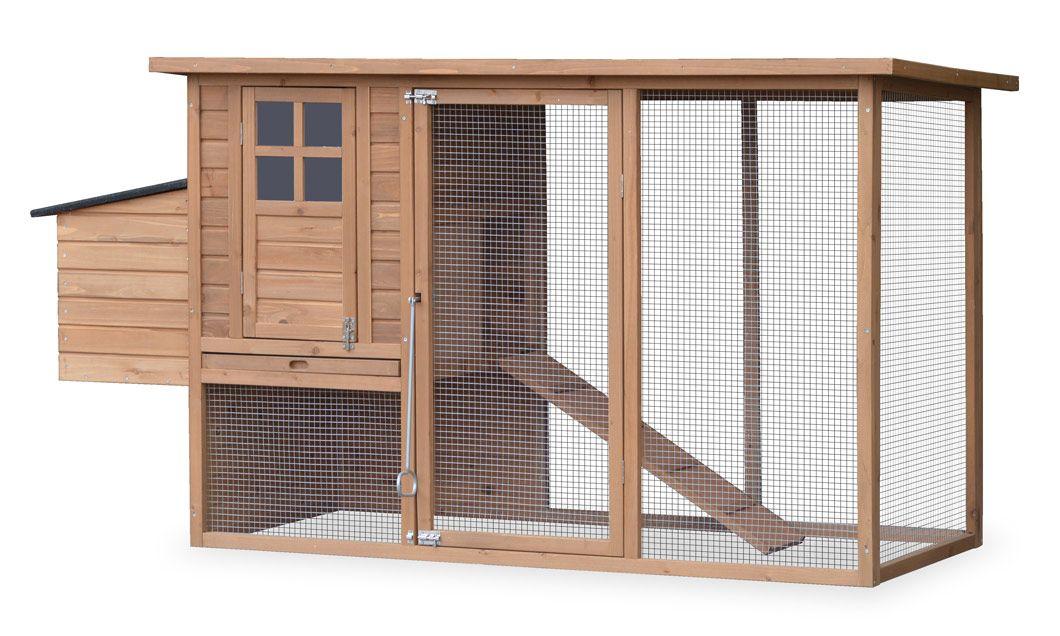 Poulailler En Bois Avec Enclos Cottage Pour 3 A 4 Poules Poulailler Bois Poulailler Maisons De Poulet
