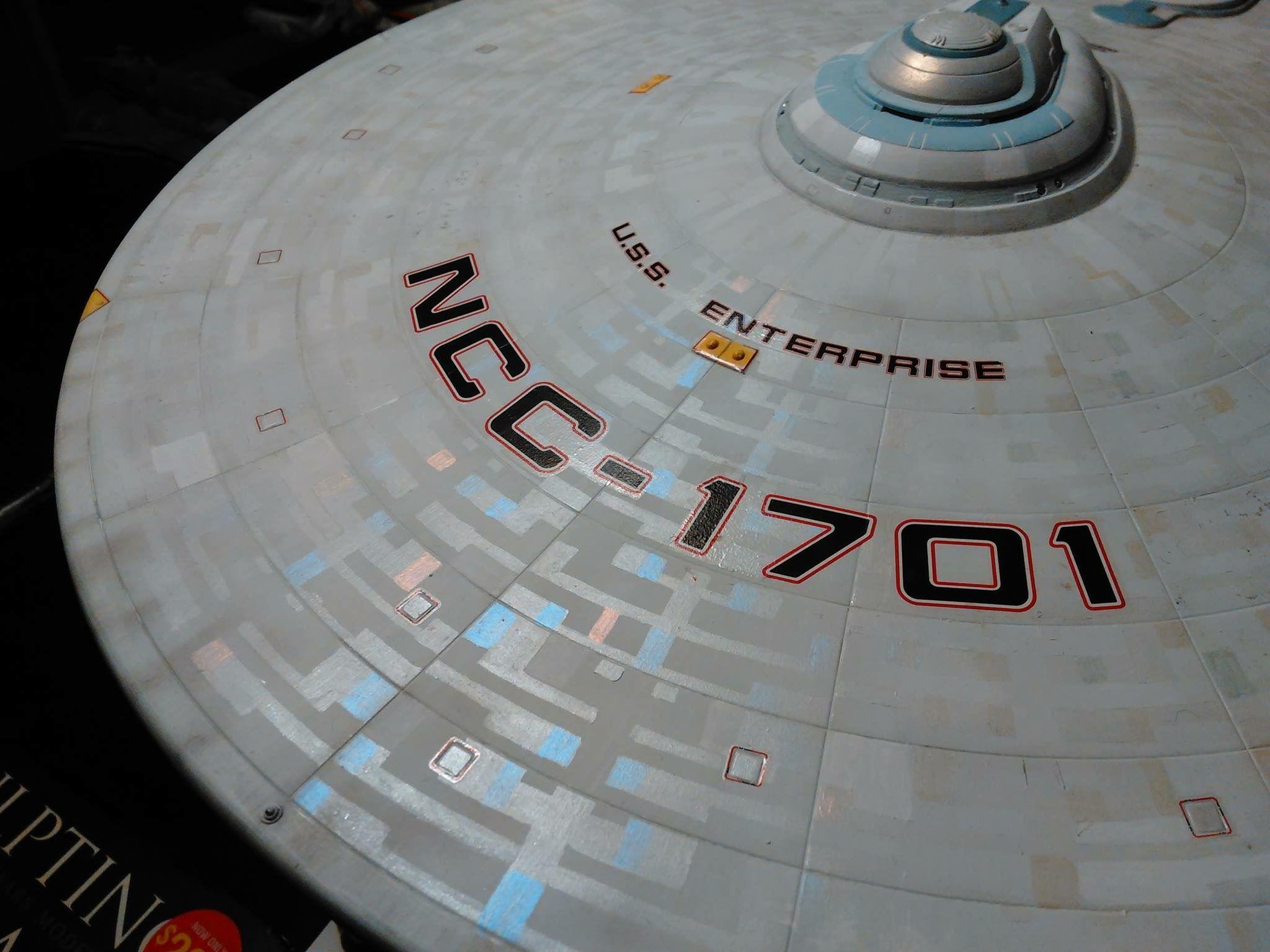 Star trek uss enterprise ncc refit 1 scale model - 1 350 Scale Polar Lights Uss Enterprise Refit Model Aztecing Example