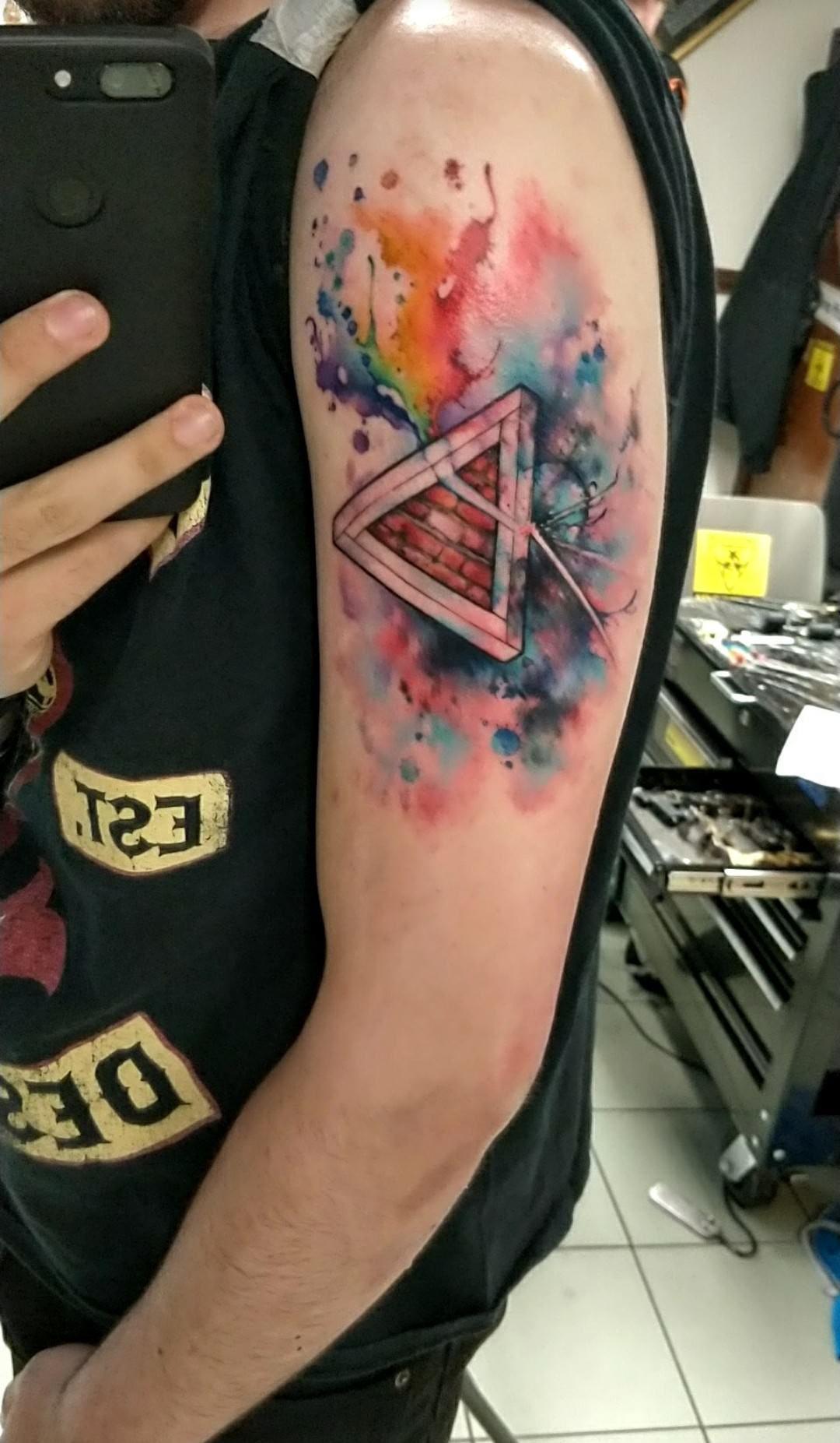 George Floyd Tattoo: Pink Floyd Watercolour Tattoo I Got Yesterday