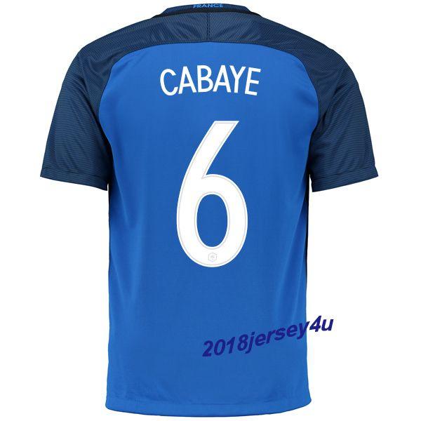 Yohan Cabaye 6 UEFA Euro 2016 France Home Jersey