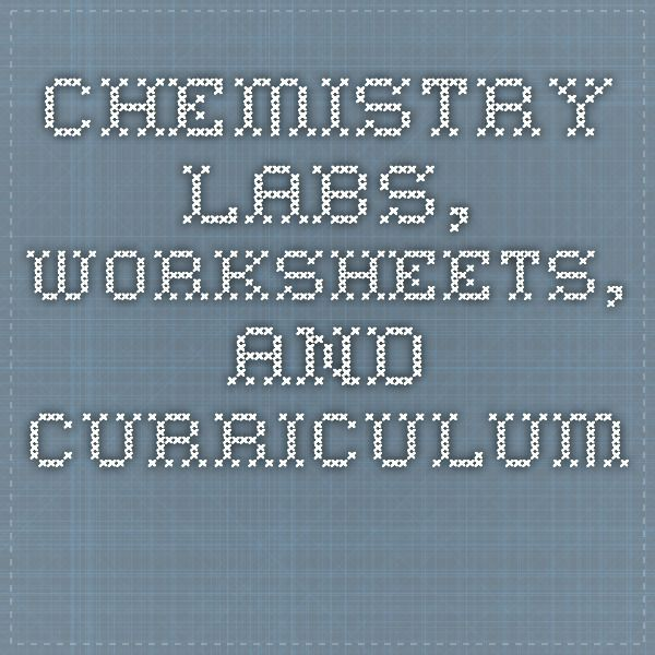 Chemistry labs, worksheets, and curriculum Chemistry Pinterest - best of periodic table symbols worksheet