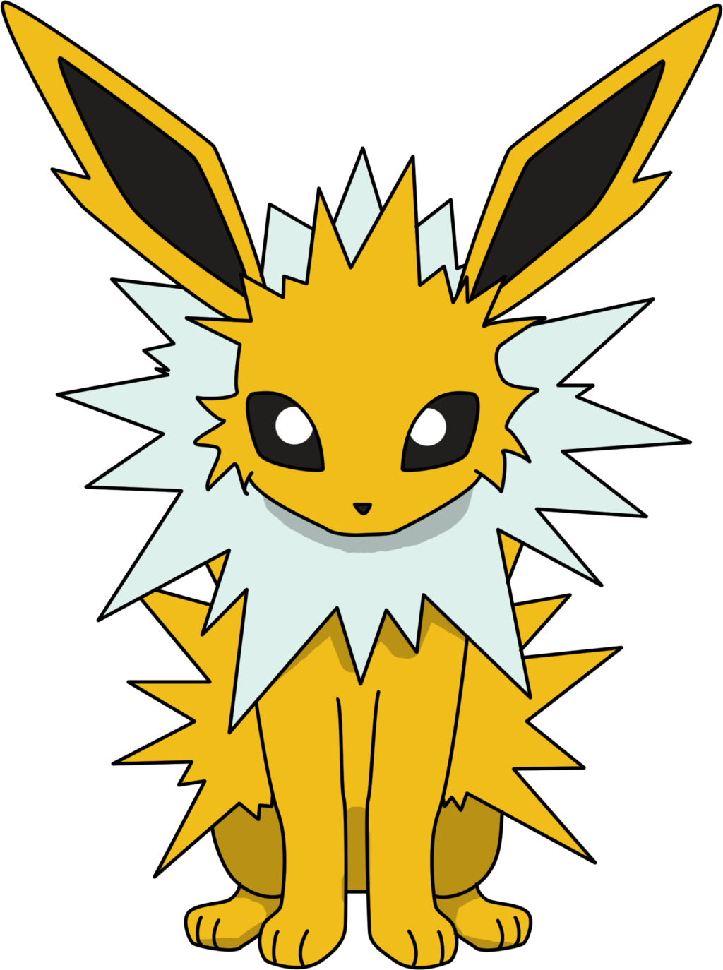 Jolteon Sitting Png Cute Pokemon Wallpaper Pokemon Pokemon Eeveelutions