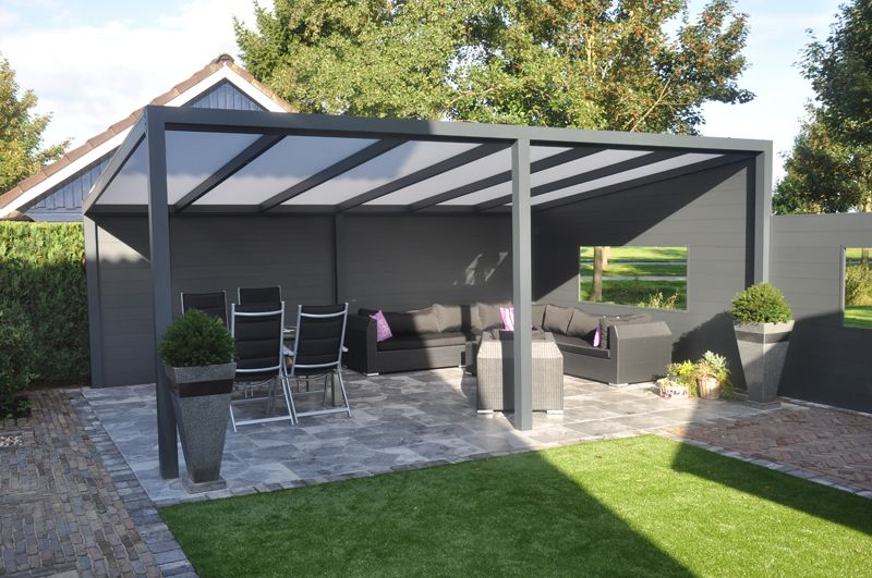 blokhutten veranda 39 s aluminium verandas veranda aluminium 500x250 cm vrijstaand lek. Black Bedroom Furniture Sets. Home Design Ideas