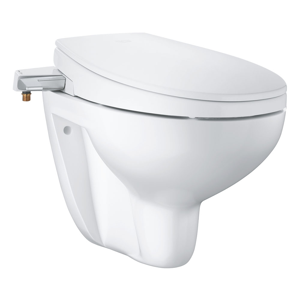 Grohe Bau 2 In 1 Manual Bidet Seat Rimless Wall Hung Toilet