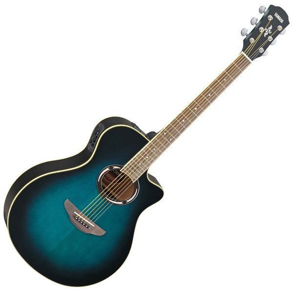 Beautiful Yamaha Apx500ii Electro Acoustic Guitar Oriental Blue Burst Left Behind After The Festival N Yamaha Guitar Electro Acoustic Guitar Acoustic Guitar