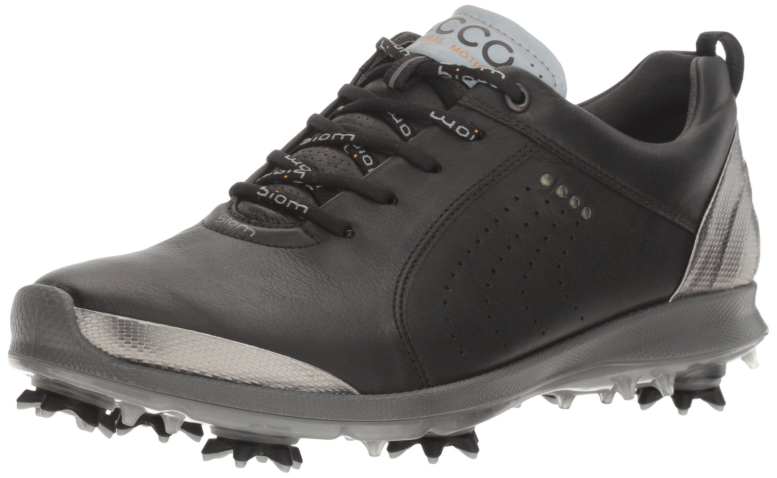ECCO Women's Boim G 2 Free Golf Shoe, Black/Buffed Silver, 39 EU
