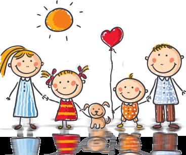 Au coeur des familles d'ici | Arte para crianças, Desenho familia ...