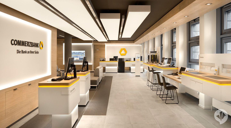 Commerzbank Flagship Branch Concept Bank Interior Design Bank