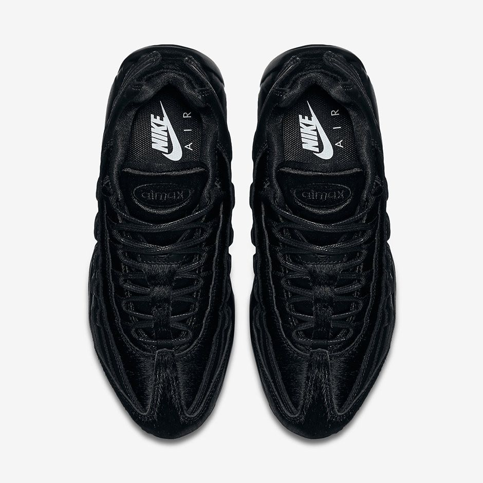 the best attitude 9098c c67e7 No, this isn t just another all black Nike Air Max 95. Look closer, and you ll  see this women s edition of the Air Max standard has a not so standard ...