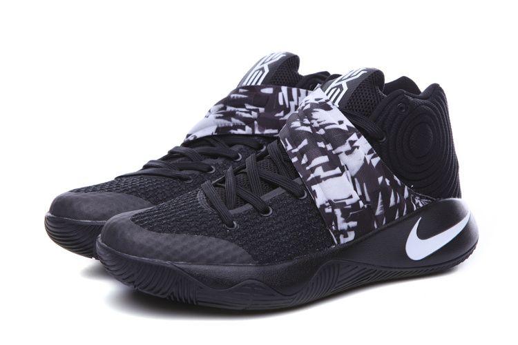 Cheap Nike Kyrie Irving 2 Mens Shoes Black White-www.kobe10vip.com.