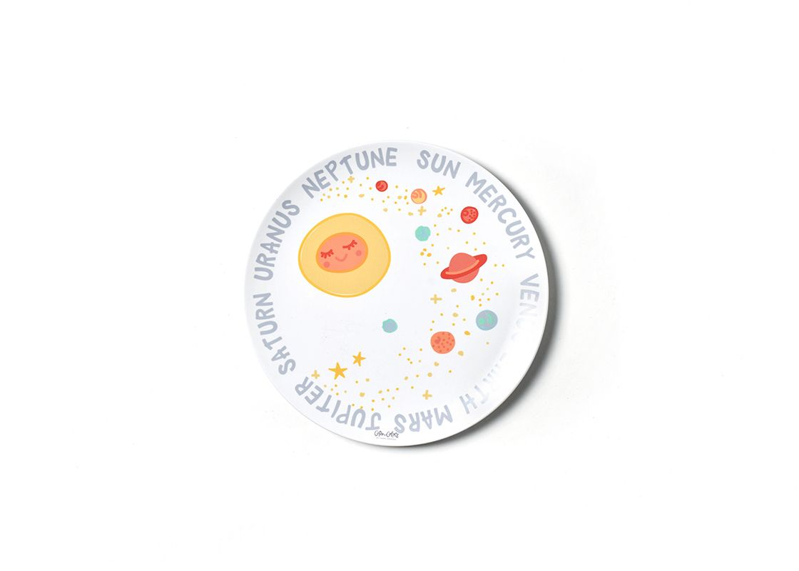 Outer Space Planets Melamine Dinner Plate