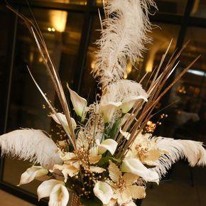 Art Deco Wedding Flower Arrangements