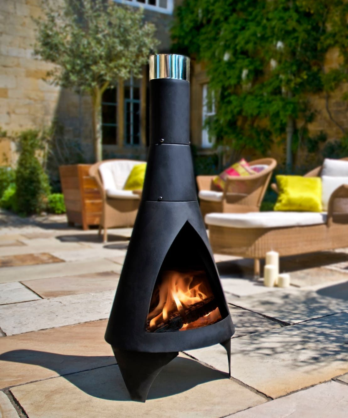 homify  Outdoor heating, Chiminea, Contemporary outdoor fireplaces