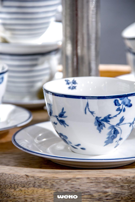 Florale Muster In Blau Geschirr Blau Weiss Geschirr Porzellan