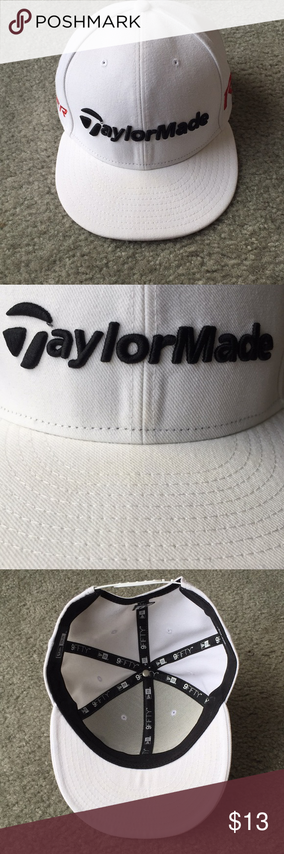 15a01af3c3968 Taylormade Burner   R15 Flat bill Hat EUC Taylormade Hat New Era brand  Adjustable 3 spots