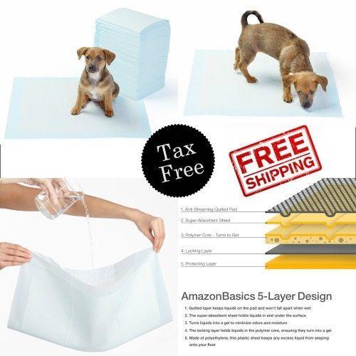 5 Layer Design Pet Training Pads Absorbent Puppy Regular 100 Count 22 X22 New Amazonbasics Dogtraining Pet Training Pet Training Pads Puppy Pads
